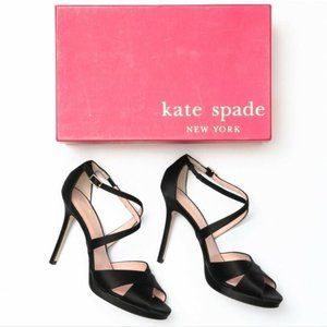 Kate Spade FRANCES Black Satin Pumps 8,5